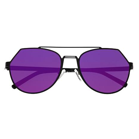 Bertha Hadley Sunglasses with Black Frame and Purple and Pink Lenses