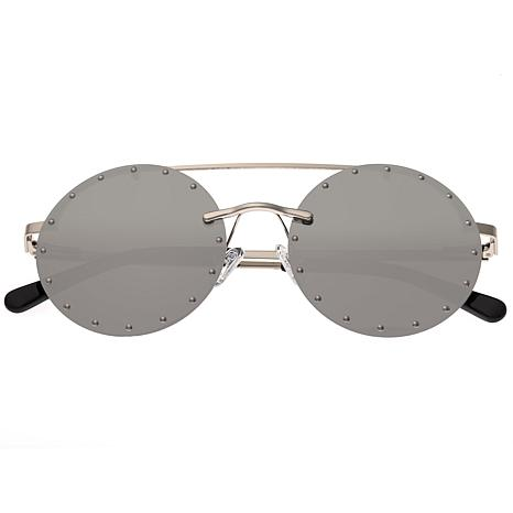 Bertha Harlow Polarized Sunglasses with Silver Frame and Lenses