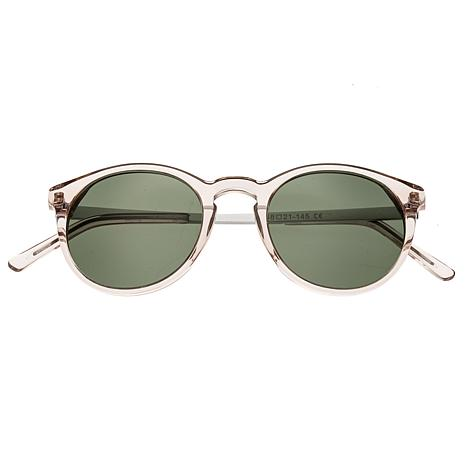 Bertha Hayley Polarized Sunglasses with Rose Frames and Black Lenses