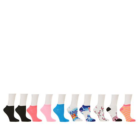 Betsey Johnson 10-pack Tropical Low-Cut Socks