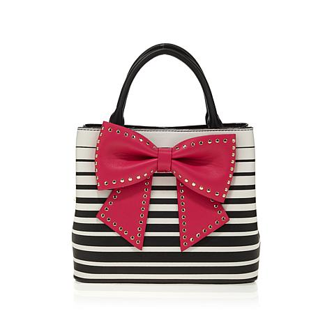 Betsey Johnson Romantic Bow Bucket Bag
