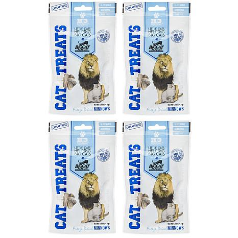 Big Cat Rescue Freeze Dried Minnows Treats for Cats 4-pack