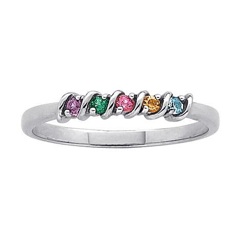 Birthstone Crystal S-Curve Ring