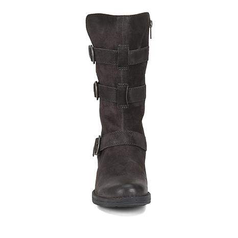 9bb95f996bd Born® Ivy Leather Buckled Moto Boot