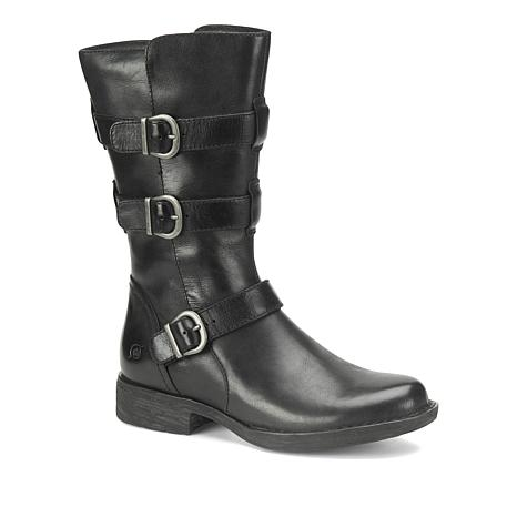 Born® Ivy Leather Buckled Moto Boot