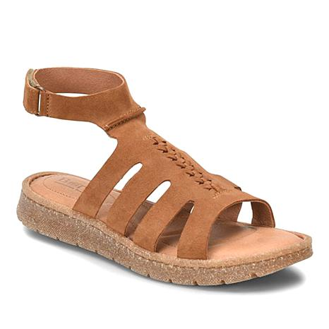 Born® Laporta Leather Ankle Wrap Sandal