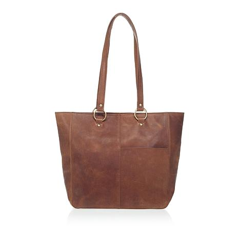 d665fe2be2 Born Wellesley Distressed Leather Tote with Wristlet - 8756842