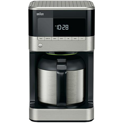 Braun BrewSense 10-Cup Drip Coffee Maker with Thermal Carafe in Sta...