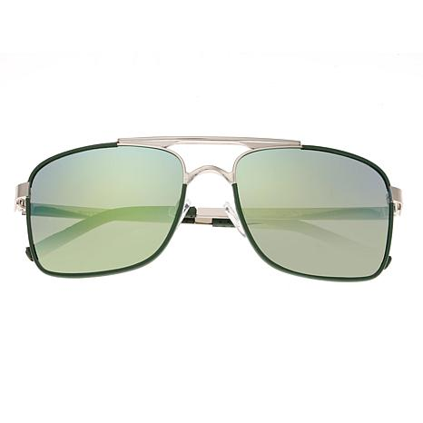 Breed Draco Polarized Sunglasses with Silver Frames and Lenses