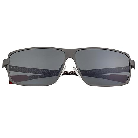 Breed Finlay Polarized Sunglasses with Gunmetal Frame and Black Lenses