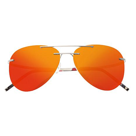 Breed Luna Polarized Sunglasses - Gunmetal Frames/Red-Yellow Lenses