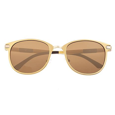 Breed Orion Polarized Sunglasses with Gold Frame and Brown Lenses