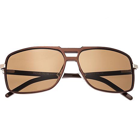 Breed Retrograde Aluminium Polarized Sunglasses Brown Frame and Lenses