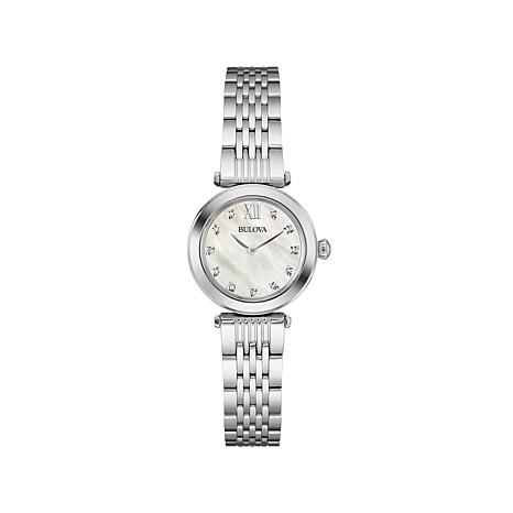 Bulova 11-Diamond Dial Marker Mother-of-Pearl Watch