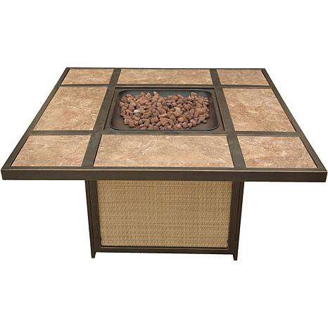 Cambridge Tile-Top Gas Fire Pit