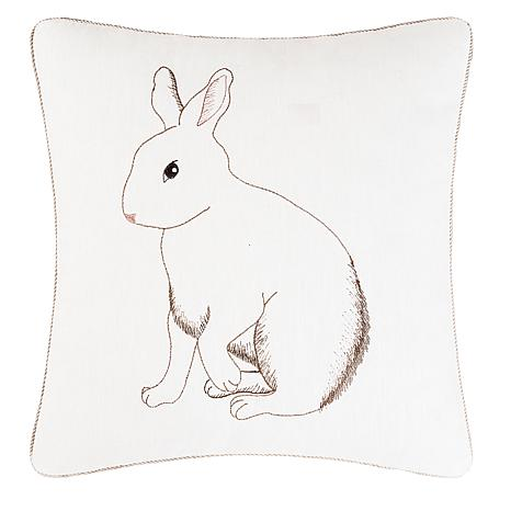 C&F Home Bunny Embroidered Pillow
