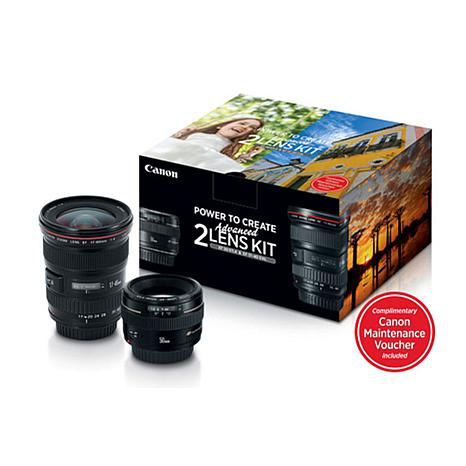 Canon 50mm F1.4 and 17-40mm F4/L Lenses Advanced 2-Lens Kit