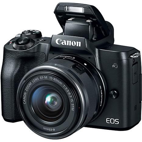 Canon EOS M50 Black Mirrorless Digital Camera with 15-45mm Lens