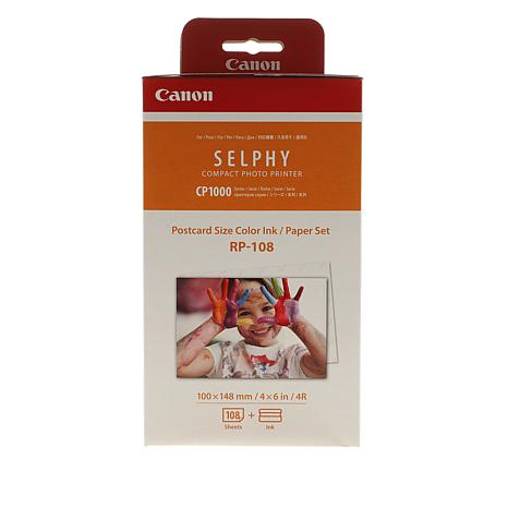 Canon Selphy RP-108 Color Ink & 108 Sheets
