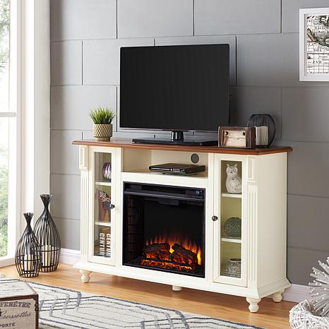 Carlinville Electric Fireplace Tv Stand Antique White 8578694 Hsn
