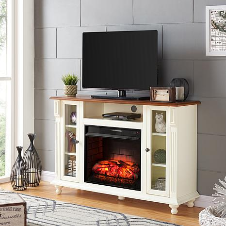 Shop Carlinville Infrared Fireplace TV Stand - Antique White 8578683
