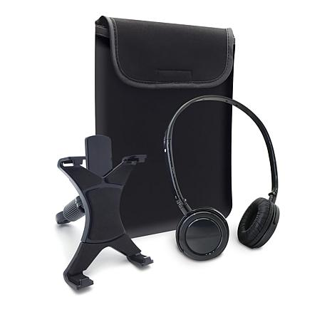Caseworks Tablet Accessory Kit w/Sleeve, Headrest Mount & Headphones