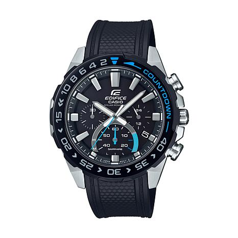 Casio Edifice Men's Solar-Powered Resin Strap Chronograph Watch