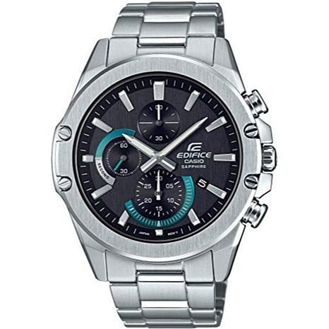 Casio Men's Edifice Stainless Steel Black Dial Slim Chronograph Watch