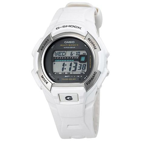 Casio Men's Solar Powered Atomic G-Shock GWM850 White Digital Watch