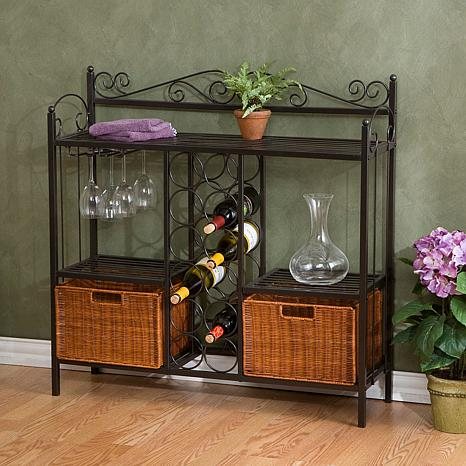 Celtic Bakers Rack with Wine Storage 6408623 HSN