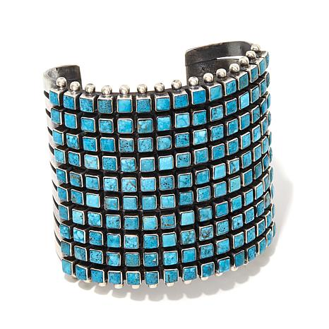 Chaco Canyon Kingman Turquoise Wide Cuff  Bracelet