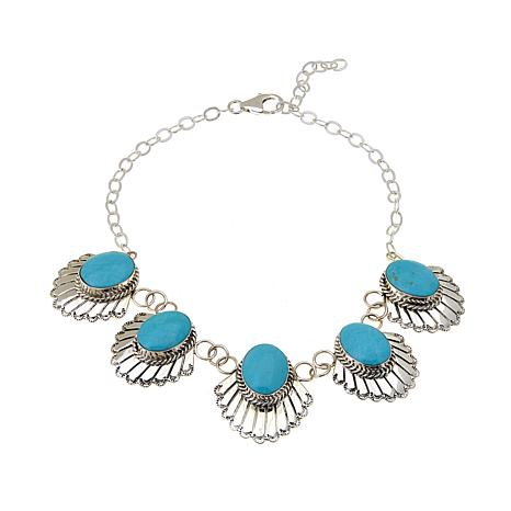 Chaco Canyon Oval Kingman Turquoise 2-in-1 Choker