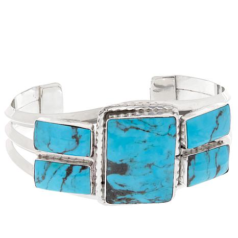 Chaco Canyon Rectangular Kingman Turquoise Cuff Bracelet