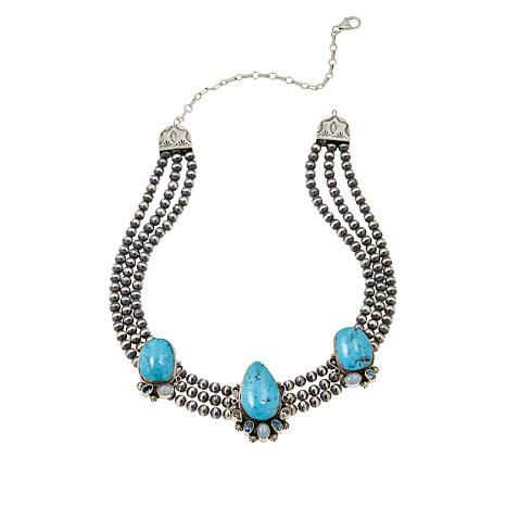 Chaco Canyon Turquoise and Multi-Gemstone Beaded Necklace