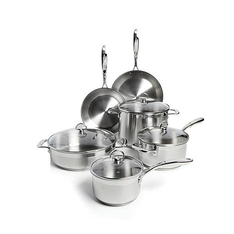 "Chantal Induction 21 9pc Stainless Cook Set/11"" Frypan"