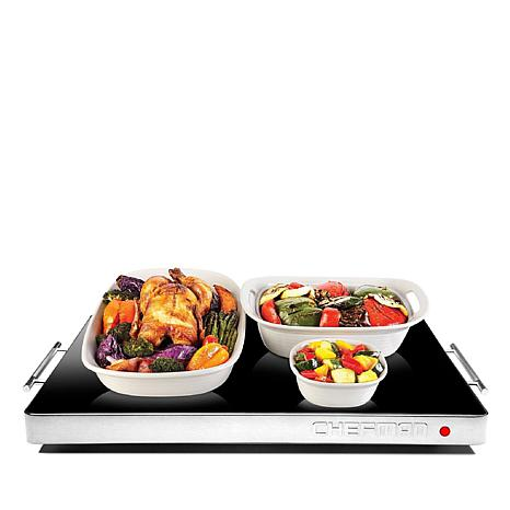 Chefman Family-Size Electric Glass-Top Warming Tray