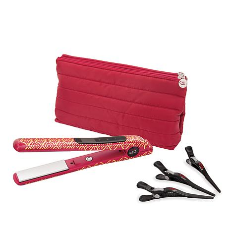 CHI Garnet Smart GEMZ Volumizing Hairstyling Iron with Clips and Bag