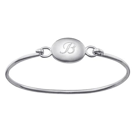 Child S Engraved Sterling Silver Bangle Bracelet