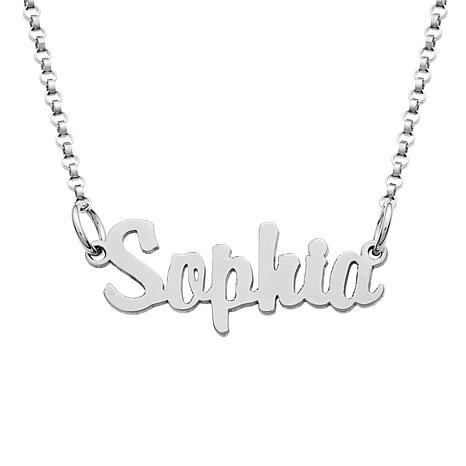 """Child's Personalized Sterling Silver 16"""" Necklace"""