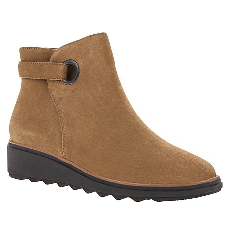 Clarks Collection Sharon Spring Suede Ankle Boot