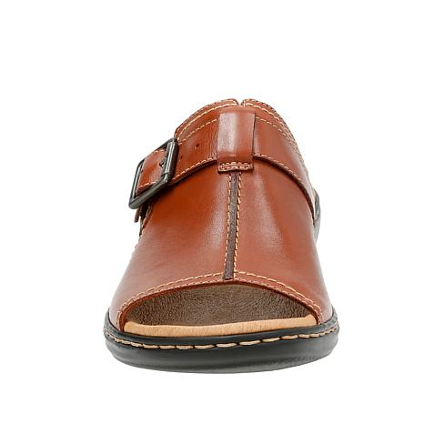 cab747acce5e Clarks Leisa Gianna Leather Slip-On Sandal - 8793202