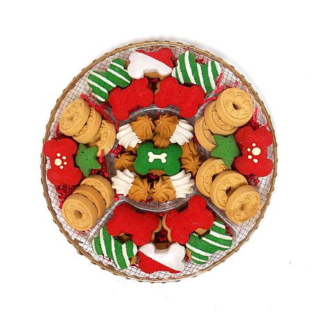 Claudia's Canine Bakery 48-count Holiday Dog Treat Tray