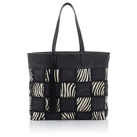 """Clever Carriage """"Giglio"""" Patchwork Shopper - Limited Quantity"""