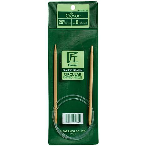 "Clover 29"" Bamboo Circular Knitting Needles - Size 8"