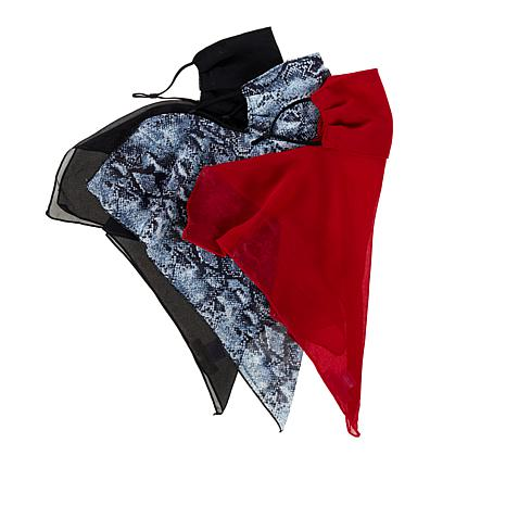 Collection 18 3-pack Reusable 2-Layer Face Scarves