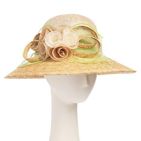 Collection 18 Dressy Downturned Brim Straw Hat