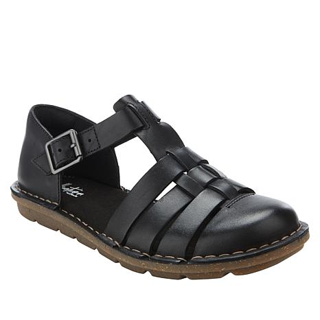 0fe9d663 Collection by Clarks Blake Moss Leather Fisherman Sandal - 8904906 | HSN