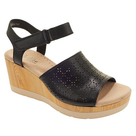 Collection by Clarks Cammy Glory Leather Wedge Sandal