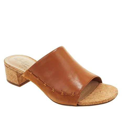 728993d22409 Collection by Clarks Elisa Abby Leather Slide - 8905596 | HSN