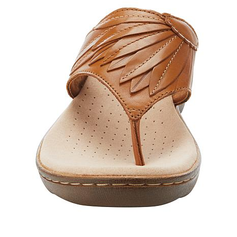 Clarks Phebe Pearl Leather Thong Sandal